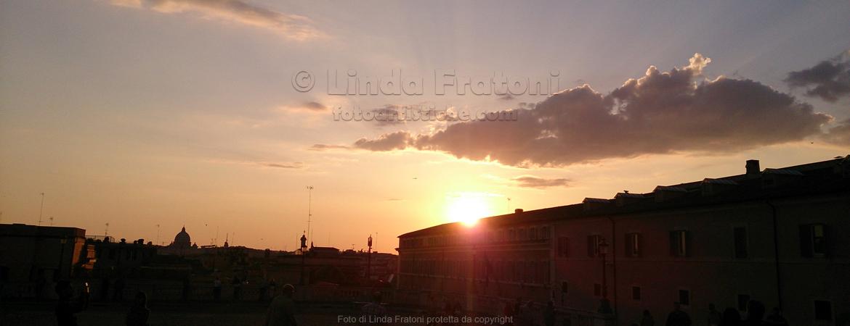 foto artistiche Linda Fratoni tramonto Quirinale
